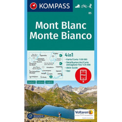 Mont Blanc Monte Bianco 1:25.000 (617)