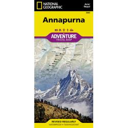 Annapurna Adventure Travel Map Waterproof
