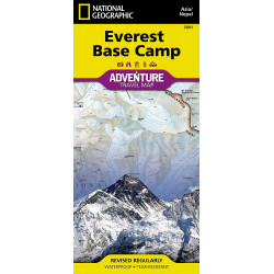 Everest Camp Base Adventure Travel Map Waterproof