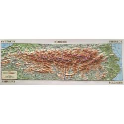 Pirineos Mapa en Relieve (62x22cm)