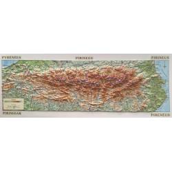 Pirineus Mapa en Relleu (62x22cm)