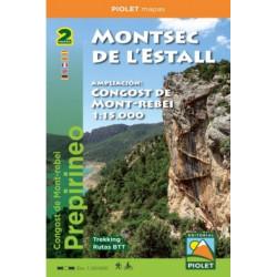 Montsec de l'Estall 1:20.000 con Ampliación Congost de Mont-Rebei 1:15.000