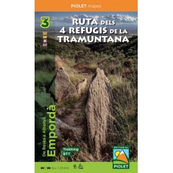 Ruta dels 4 Refugis de la Tramuntana 3 Mapes 1:25.000 Piolet