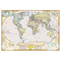 Mapamundi Estil Clàssic (Català) 100x70 Cartograma