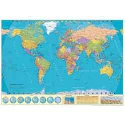 Mapamundi Escolar 100x70 (Castellano) Cartograma