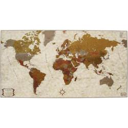 El Mundo Tinta Metalizada (Castellano) 100x55 Cartograma
