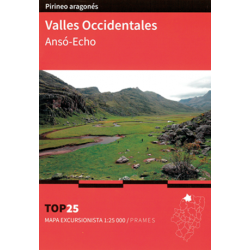 Mapa TOP 25 Valles Occidentales Ansó-Echo