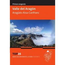 Mapa TOP 25 Valle del Aragón Aragüés Aísa Canfranc