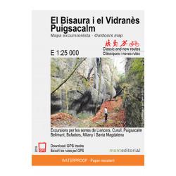 El Bisaura i el Vidranès Puigsacalm 1:25.000 Mont Editorial