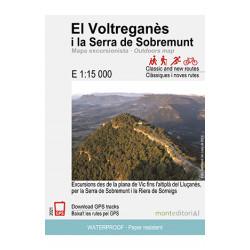 El Voltreganès i la Serra de Sobremunt 1:15.000 Mont Editorial