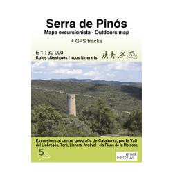 Serra de Pinós Mapa Excursionista 1:30.000 Mont Editorial