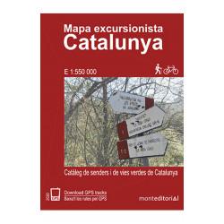 Mapa Excursionista Catalunya 1:550.000 Mont Editorial