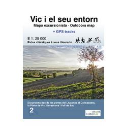 Vic i el Seu Entorn Mapa Excursionista 1:25.000 Mont Editorial