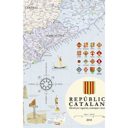 Póster Mapa de la República Catalana 1:400.000
