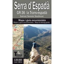 Serra d'Espadà GR-36 la Trans-espadà 1:30.000 2 Mapes