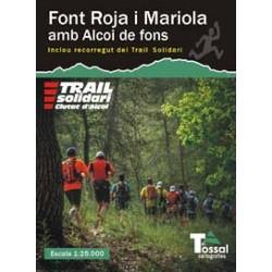 Font Roja i Mariola amb Alcoi de Fons 1:25.000