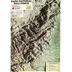 Mapa Relleu Parc Natural dels Ports 1:90.000