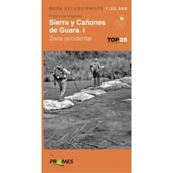 Mapa TOP 25 Sierra y Cañones de Guara Occidental
