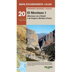 Mapa 1:40.000 Montsec I l'Estall o de Aragón y d'Ares