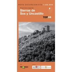 Mapa TOP 25 Sierras de Sos y Uncastillo