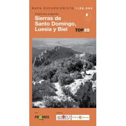 Mapa TOP 25 Sierras de Santo Domingo, Luesia y Biel
