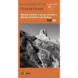 Mapa TOP 25 Picos de Europa los Urrieles y Ándara