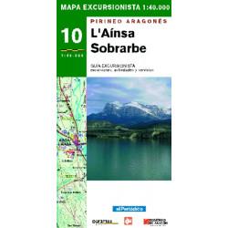 Mapa 1:40.000 l'Aínsa Sobrarbe