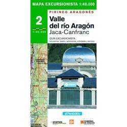 Mapa 1:40.000 Valle del Río Aragón, Jaca-Canfranc